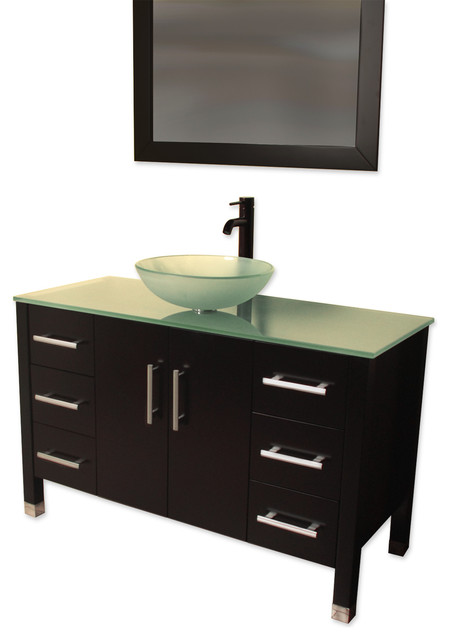single vessel sink bathroom vanity shelby contemporary bathroom