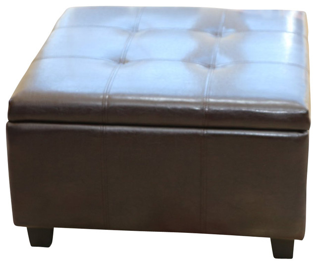 Storage Coffee Ottoman Dark Brown Espresso Black Lift