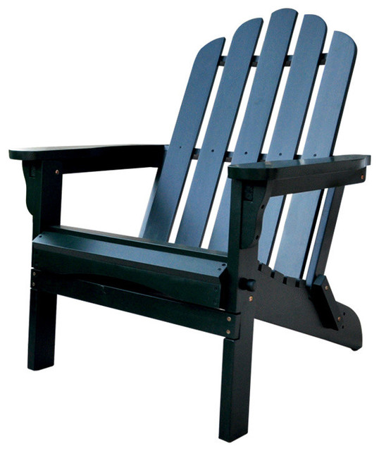 Marina Adirondack Chair Dark Green Folding Chairs And Stools by Shine Co