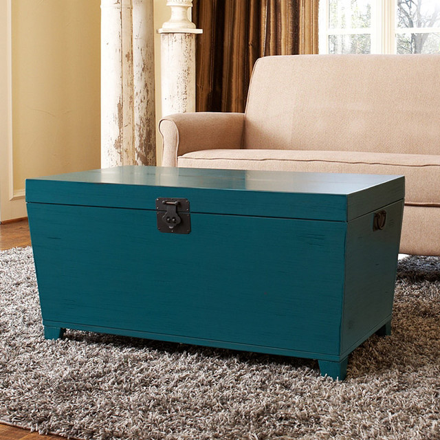 Turquoise Pyramid Trunk Coffee Table