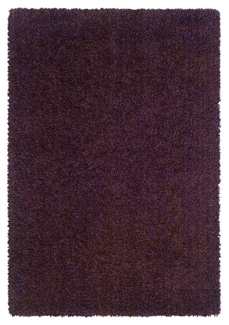 Contemporary spectrum 7 39 10 x10 39 rectangle purple brown for Purple area rugs contemporary