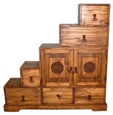 Tansu 5 Step Chest w Stars - Contemporary - Accent Chests And Cabinets - by ShopLadder