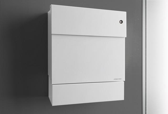 briefkasten letterman 5 mit klingelschalter modern. Black Bedroom Furniture Sets. Home Design Ideas