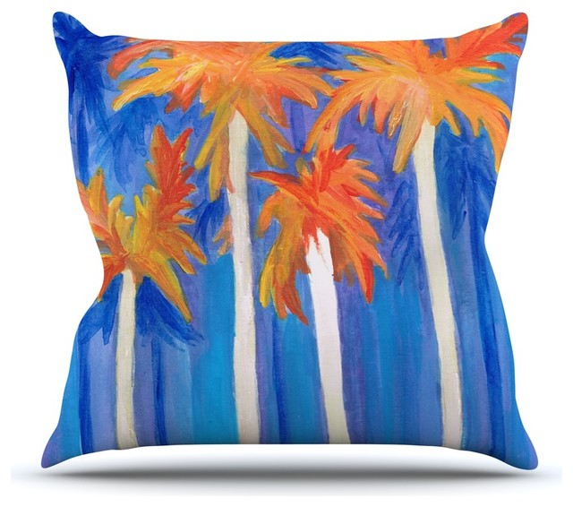 Decorative Pillows Blue And Orange : Rosie Brown