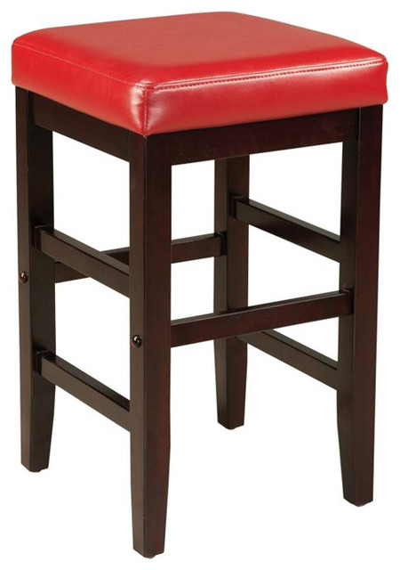 Standard furniture smart stools counter height square red upholstered contemporary bar - Standard counter height stool ...