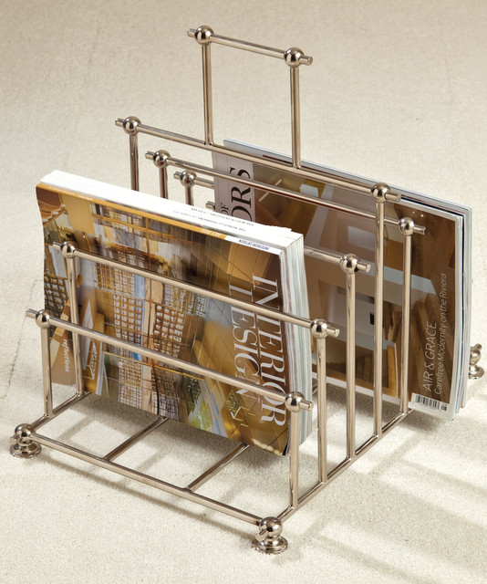 Nickel File Organizer/ Caddy - Transitional - Furniture - by Bliss Home & Design
