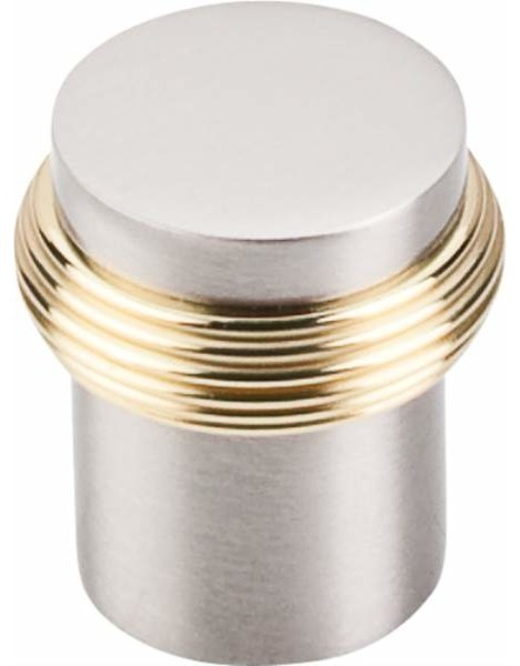 Top Knobs Split Knob 1 Inch Satin Nickel & Polished Brass - Contemporary - Cabinet And Drawer ...