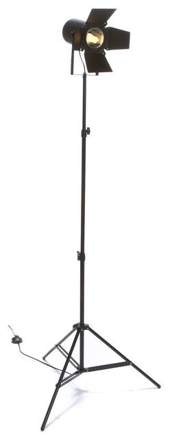 movie lampadaire r glable h39 120cm noir contemporain. Black Bedroom Furniture Sets. Home Design Ideas