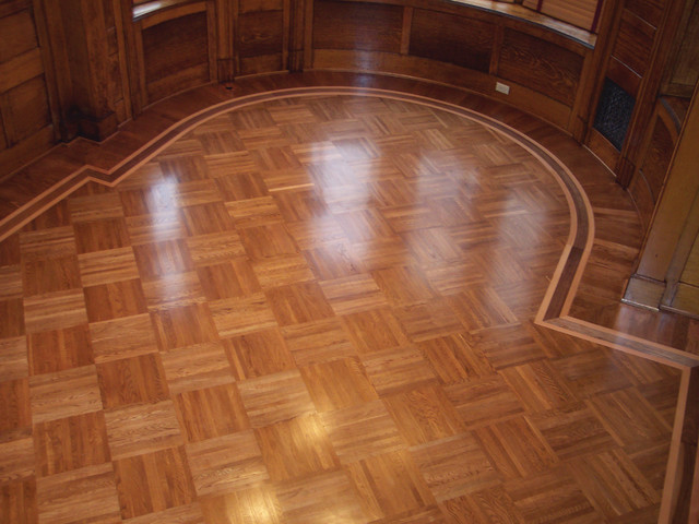 Union Block Parquet Traditional Hardwood Flooring By