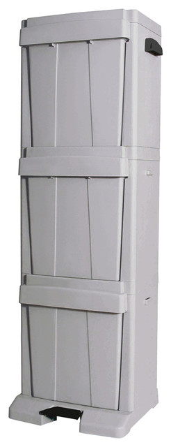 3 Bin Recycle Tower Transitional Recycling Bins By