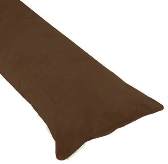 Large Decorative Body Pillow : Chocolate Brown Body Pillow Case decorative-pillows