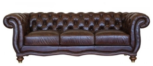 Tufted back leather sofa traditional sofas by artefac for Traditional tufted leather sofa