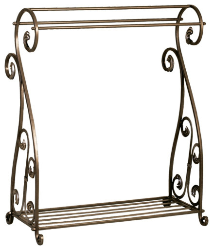 Metal Quilt Rack - Traditional - Blanket And Quilt Racks - by Welcome Home Accents