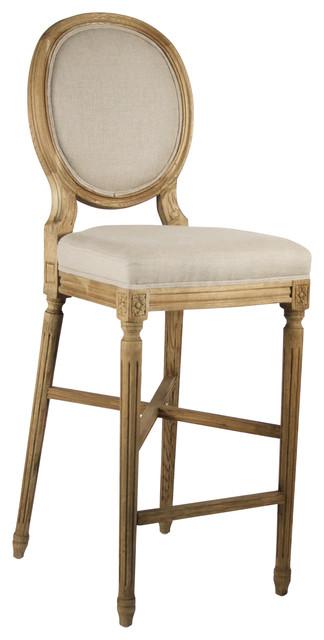 Medallion bar stool natural traditional bar stools - Traditional kitchen bar stools ...