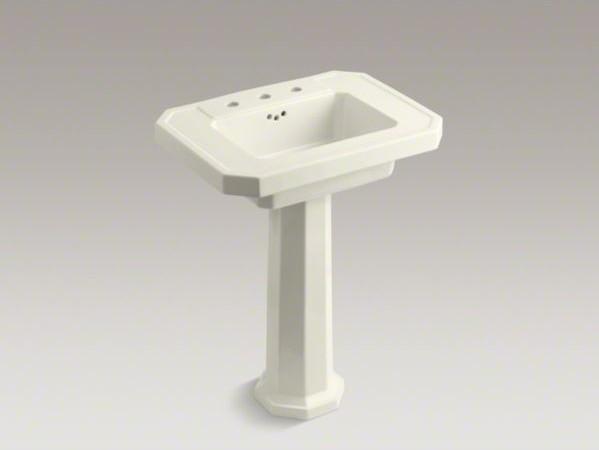 KOHLER Kathryn(R) pedestal bathroom sink with 8