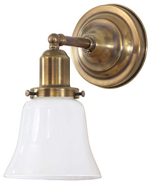 Thin Arm Brass Wall Light Farmhouse Wall Sconces by PW Vintage Lighting