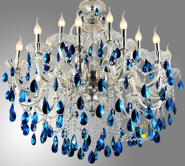 Modern Chandeliers Nyc: Modern Crystal Chandle Chandelier In Silver Finish