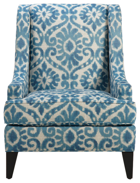 Emerson Chair, Mairi/Peacock - Traditional - Armchairs And Accent Chairs - by Ethan Allen