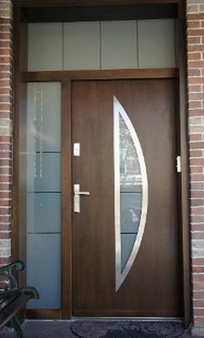 Modern exterior door model 069 contemporary front for New model front door