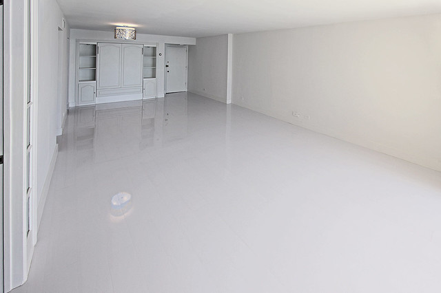 White Glossy Laminate Floors - Modern - Miami - by Glace Floors