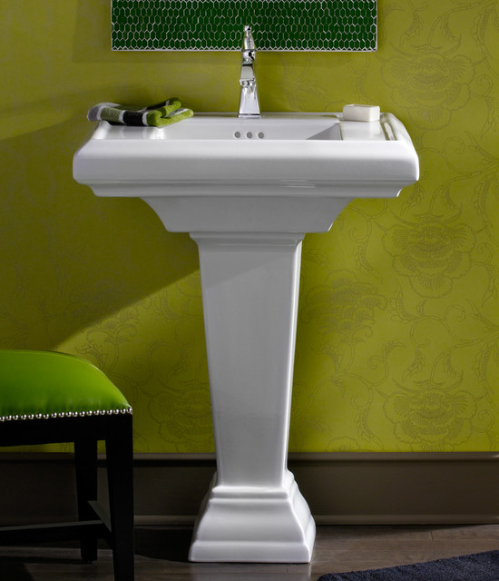 Town Square 27 Quot Pedestal Sink Traditional Bathroom