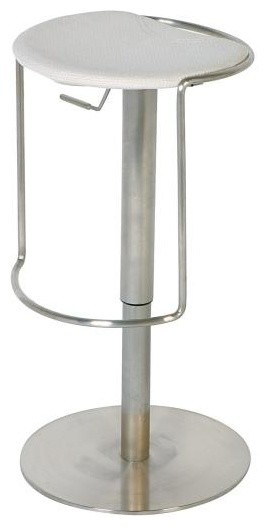 Stainless Steel Adjustable Height Swivel Stoo
