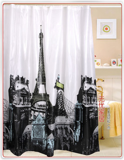 Eiffel Tower Pattern Shower Curtain - Modern - Shower Curtains - Other - by wholesale faucet
