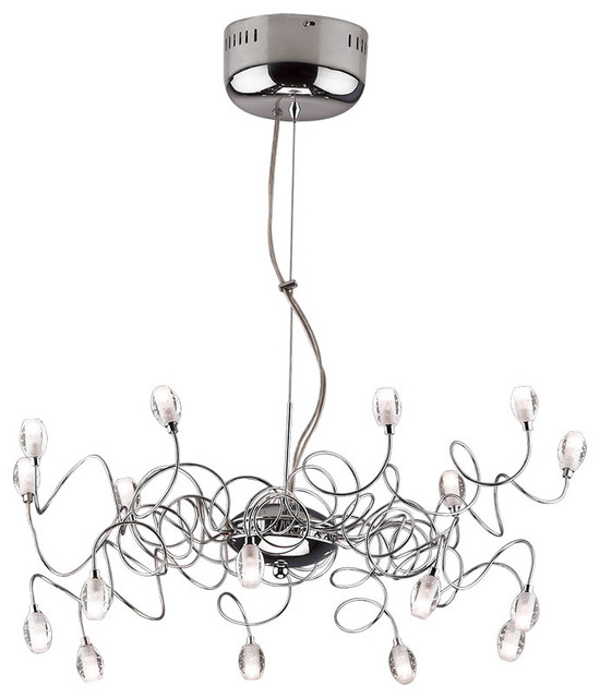 Lustre suspension design m tal et verre 70 cm contemporary chandeliers - Suspension et lustre ...