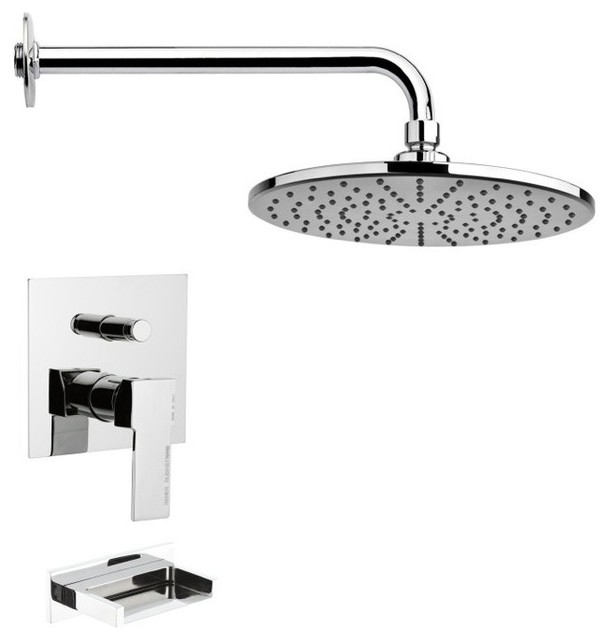 ... Tub and Rain Shower Faucet Set contemporary-tub-and-shower-faucet-sets