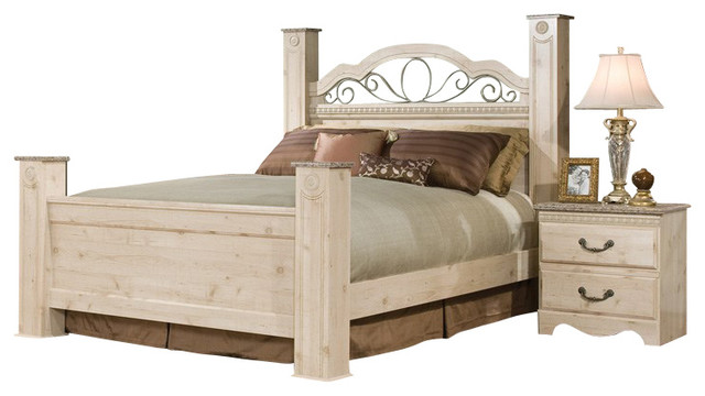 standard furniture seville 5 piece poster bedroom set