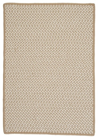 Colonial Mills Outdoor Houndstooth Tweed Cuban Sand 2 X 6