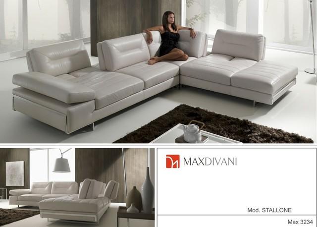 MaxDivani contemporary sectional sofas chicago