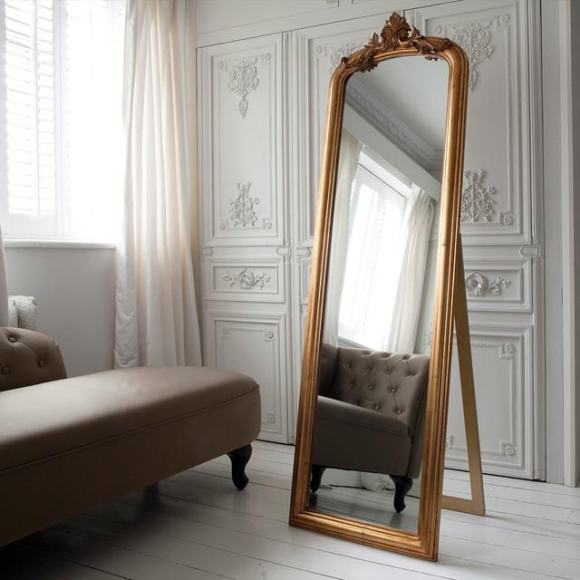 مرآة أرضية بقاعدة خلفية انيقة