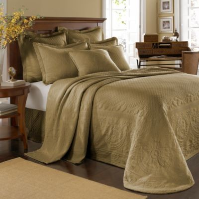 King Charles Matelasse Bedspread In Birch Contemporary