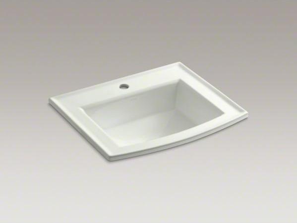 KOHLER Archer R drop in bathroom sink with single faucet