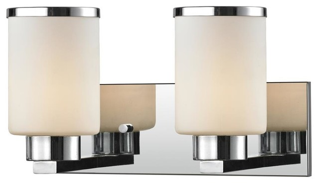 Bathroom Vanity Lights Chrome Finish : 2 Light Vanity - Chrome Finish - Contemporary - Bathroom Vanity Lighting - by ShopLadder