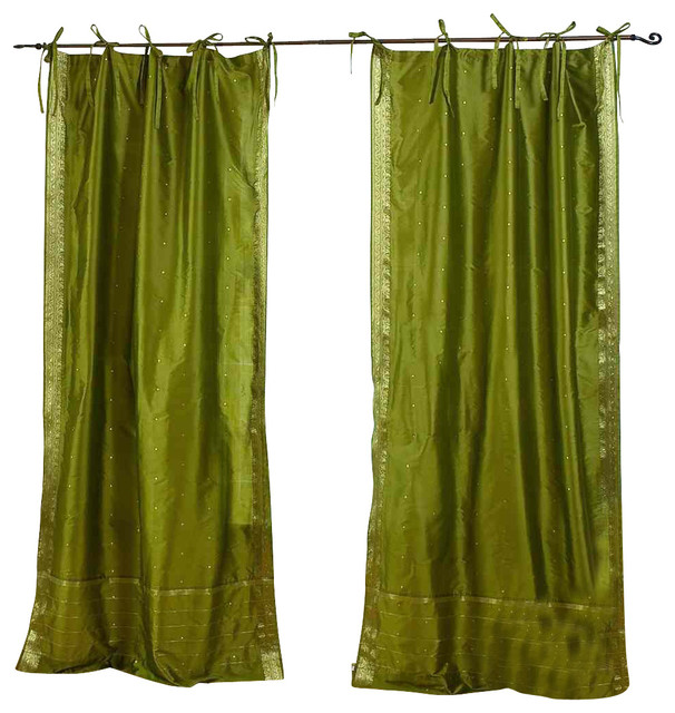 Olive green curtains