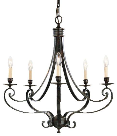 Murray Feiss Foyer Lighting: Murray Feiss Cervantes 5 Light Bronze Candle Chandelier