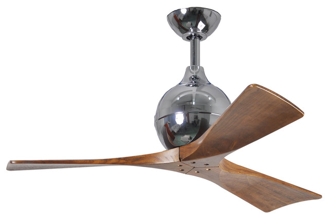 "Irene 3 Blade Ceiling Fan, Polished Chrome 42"" - Ceiling ..."