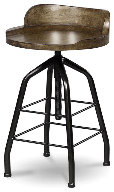 Universal Great Rooms Potter S Stool Hickory Stick