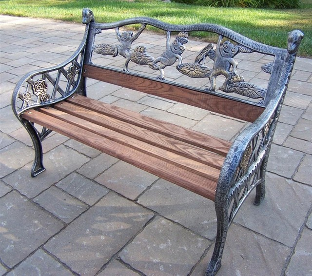 Mini Frog Garden Bench Traditional Outdoor Benches By Shopladder