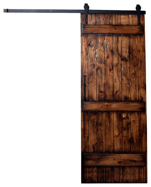 Ranch Barn Door Distressed Rustic Interior Doors By