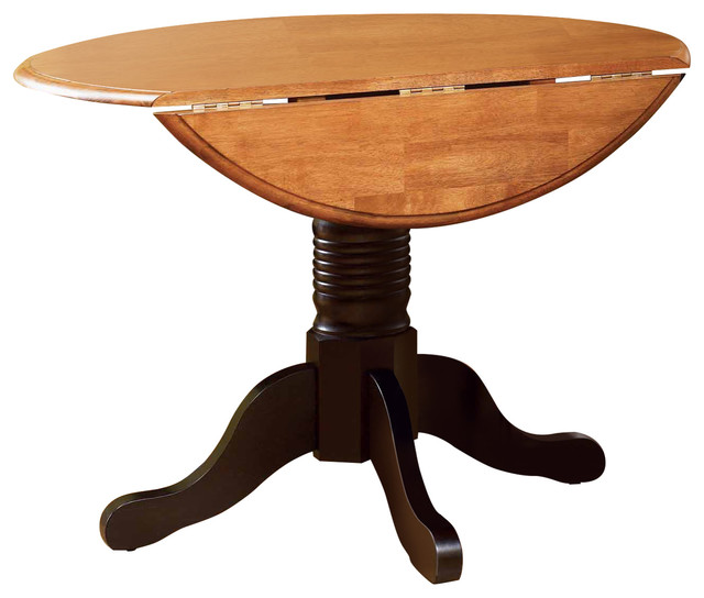 British Isles 42 Round Double Drop Leaf Dining Table