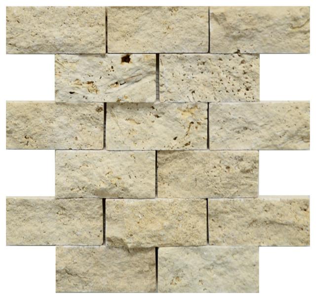 Stonetileus 4 Pieces 4 Of Mosaic Tile Ivory 2x4