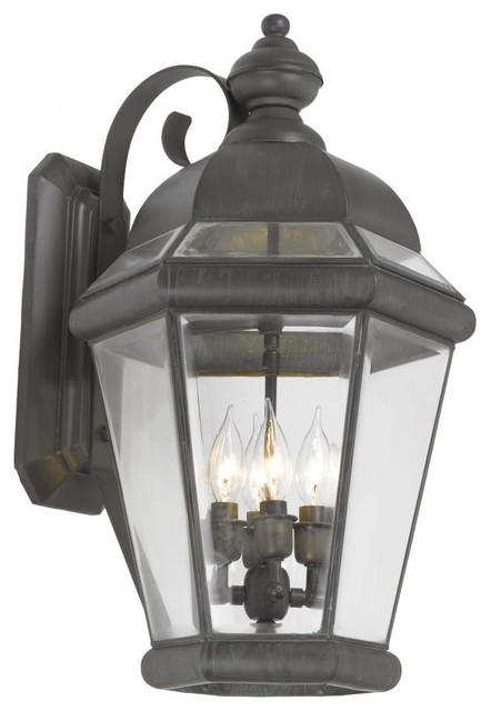 Exterior Wall Sconces Traditional : Four Light Charcoal Wall Lantern - Traditional - Outdoor Wall Lights And Sconces - by We Got Lites