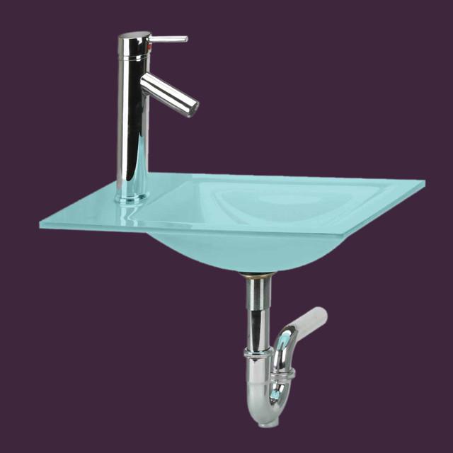 counter sinks light green tint glass counter sink faucet p
