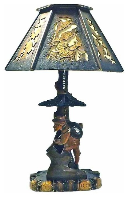 bavarian hand carved lamp mediterranean table lamps new york by omero. Black Bedroom Furniture Sets. Home Design Ideas