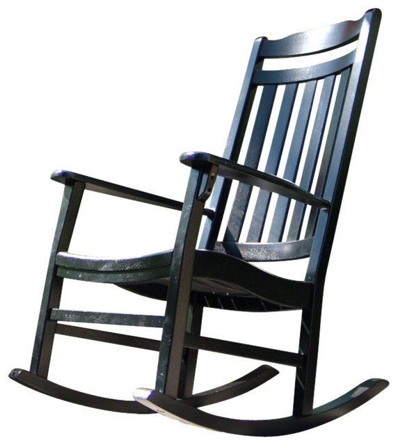 World s Finest Rocker Black Traditional Outdoor Rocking Chairs by