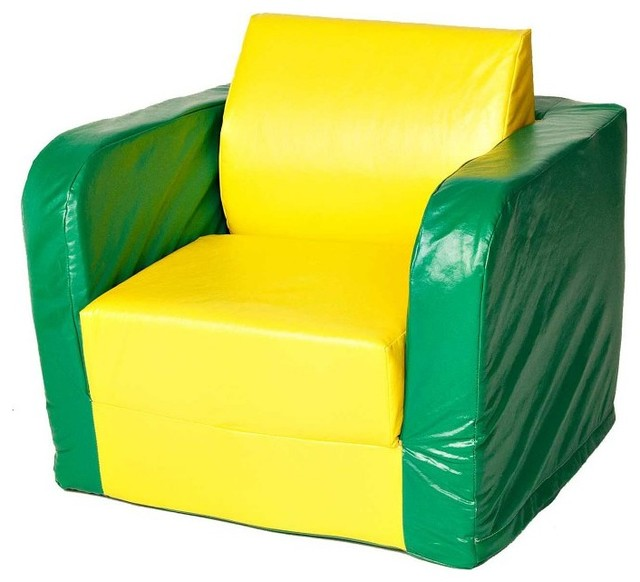 Foamnasium Pullout Soft Play Chair Pullout Chair Yellow