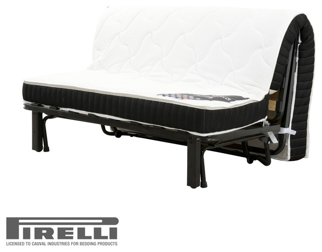 delizia cocoon bz 140cm avec matelas en latex pirelli contemporain canap lit convertible. Black Bedroom Furniture Sets. Home Design Ideas
